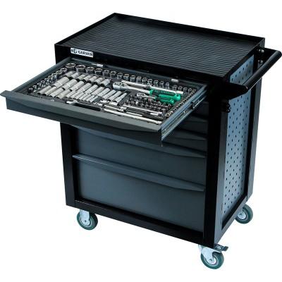 GARWIN EQ-000012 Тележка инструментальная Standart 6 полок, с комплектом инструмента в разборном кейсе, 169 пр.