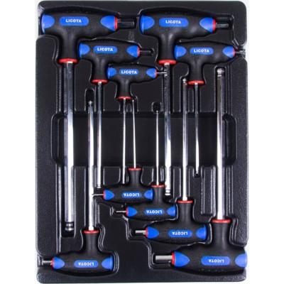 Licota ACK-382002 Набор ключей Т-образных шестигранных H2 - H12 с пластиковой рукояткой в ложементе, 10 пр.