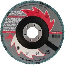 Abraflex УТ0010273 Круг лепестковый тарельчатый FLD-20 INOX 125х22 P40