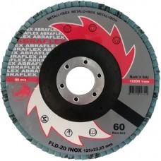 Abraflex УТ0010274 Круг лепестковый тарельчатый FLD-20 INOX 125х22 P60