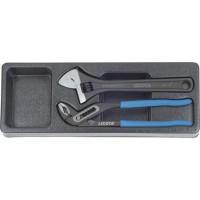 Licota ACK-384012 Набор переставные клещи и разводной ключ в ложементе