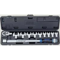 Licota AQC-S001NM Динамометрический ключ в наборе со сменными насадками, 11пр., 40-210Нм