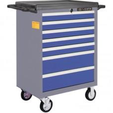Licota AWX-2603BTSBK02 Тележка инструментальная 366 пр., 7 полок, пласт. стол., ложемент-кейс, сине-серая