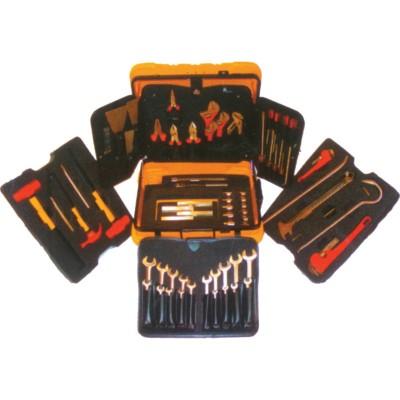 GARWIN GSK-1662 Набор инструментов искробезопасных 62пр., в алюминиевом чемодане