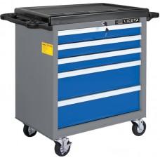 Licota AWX-2602BTSEK01 Тележка инструментальная 256 пр., 5 полок, пласт. стол., сине-серая