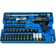 Licota ACK-B1001 Набор с гайковертом, пневмотрещоткой, ударными головками и динамометрическим ключом