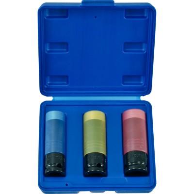Licota ANSK01 Набор ударных головок тонкостенных особо прочных, 17, 19, 21 мм в кейсе