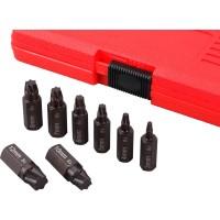 Licota ATF-6200 Набор экстракторов для болтов Torx и других профилей, 8 предметов