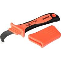 Licota AKD-V007 Нож электрика для снятия изоляции VDE 1000В, с пяткой