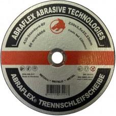 Abraflex УТ0007282 Круг отрезной 230x2,5x22,23 A30 S-BF41 металл