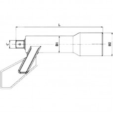 """GARWIN 533010-2-34 Удлинитель для мультипликатора; 3/4""""; 230 мм"""