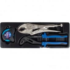 Licota ACK-384101 Набор: переставные клещи, ручные тиски струбцина, рулетка, 3 пр., в ложементе