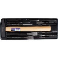 Licota ACK-384103 Набор ударно-режущего инструмента с молотком 500 г, 12 пр., в ложементе
