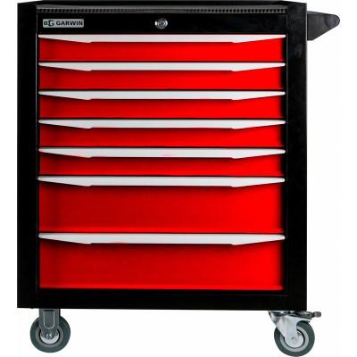 GARWIN 001017-3000 Тележка инструментальная серии Standart 7 полочная красная