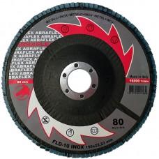 Abraflex УТ0010269 Круг лепестковый тарельчатый FLD-10 INOX 150х22 P80