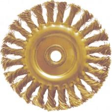 GARWIN GSX-TI02 Щетка дисковая с витой проволокой для УШМ искробезопасная 125 мм, хвостовик М14