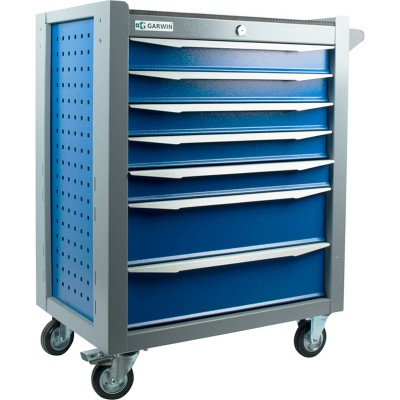 GARWIN 001017-5005-7035 Тележка инструментальная серии Standart 7 полочная сине-серая