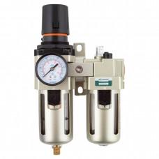 """GARWIN 807660-12-5 Модульная группа для подготовки воздуха с регулятором давления и манометром, 1/2"""", 5 мкм."""