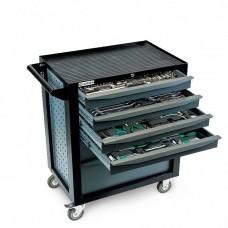 GARWIN EQ-000028 Тележка инструментальная Standart 6 полок, с комплектом инструмента в разборном кейсе, 224 пр.