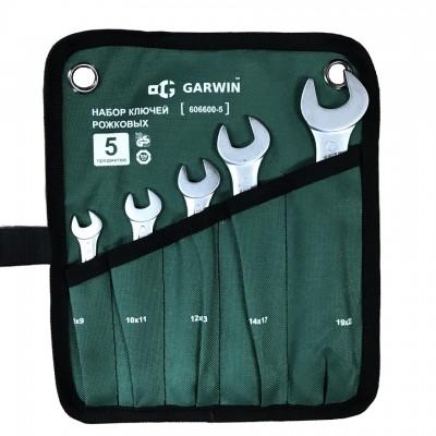 GARWIN PRO 606600-5 Набор ключей рожковых 5 предметов 8х9-19х22 мм