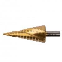 GARWIN 102570-4-30-14 Сверло ступенчатое 4,0-30,0 мм, 14 ступеней, HSS, TiN, со спиральной канавкой